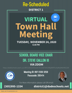 District 1 Town Hall Meeting @ ZOOM
