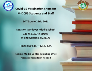 COVID-19 Vaccinations @ Andover Middle School